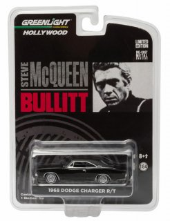 GREENLIGHT 1/64 Dodge Charger out The Movie Bullitt 1968 black