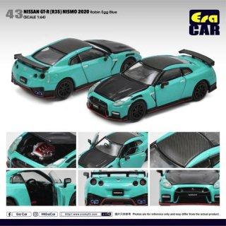 ご予約受付【2月】EraCar 1/64 43 Nissan GT-R(R35)Nismo 2020 - Robin Egg Blue ロビンエッグブルー