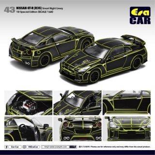 ご予約受付【2月】EraCar 1/64 43F Nissan GT-R (R35) Smart Night Livery 初回限定 ブラック