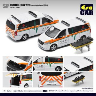 EraCar 1/64  SP43 Mercedes-Benz Vito - 台湾救急 阿仙號 ストレチャー付