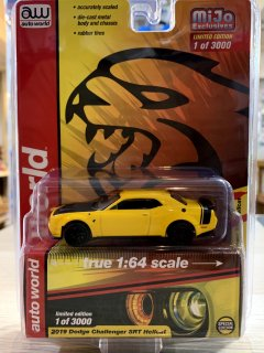 Auto World オートワールド 1/64 Dodge Challenger SRT Hellcat 2019 CP7722 イエロー