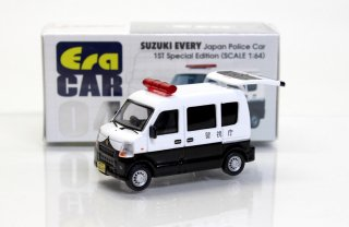 <img class='new_mark_img1' src='https://img.shop-pro.jp/img/new/icons33.gif' style='border:none;display:inline;margin:0px;padding:0px;width:auto;' />再入荷 ERA CAR 1/64 ERA04F スズキエブリィ SUZUKI EVERY JAPAN POLICE CAR警察車両 1ST Special Edition (初回生産限定品)