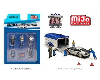 American Diorama 1:64 MiJo Exclusives Auto Transporter Crew トランスポータークルーAD-76464MJ 64フィギュア