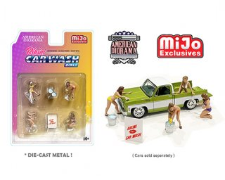 American Diorama 1:64 MiJo ExclusivesCar Wash Girl トカーウォッシュガールAD-76465MJ 64フィギュア
