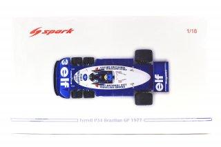 海外直輸入 Spark 1/18  Tyrrell P34 No.3 Brazilian GP 1977 Ronnie Peterson タイレルP34 ロニーピータソン