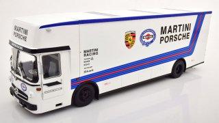 海外直輸入 CMR 1/18 メルセデス ベンツ O 317 Race Car トランスポーター ポルシェ マルティニ レーシング ホワイト Porsche Martini Racing