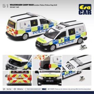 予約受付【7月】EraCar 1/64 #ERA51  Volkswagen Caddy Maxi フォルクスワーゲンキャディ - ロンドン Police (Police Dog 付き)