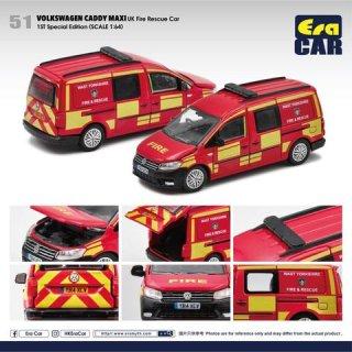 予約受付【7月】EraCar 1/64 #ERA51F  Volkswagen Caddy Maxi フォルクスワーゲンキャディ -  UK 消防レスキュカー(初回限定)