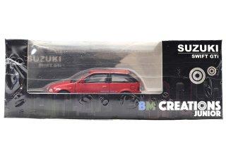 BMクリエイションズ 1/64 スズキ スウィフト GTi 1989 レッド RHD ( 64B0025 )