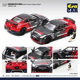 EraCar 1/64 SP56 Nissan GT-R (R35) YOKOHAMA  ADVAN Livery   (カーボンタイプ)(ボンネット・ドア開閉)
