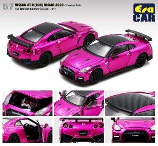 EraCar 1/64  ERA57F  Nissan GT-R (R35) Nismo 2020 Chrome Pink 初回限定(ボンネット・ドア開閉)