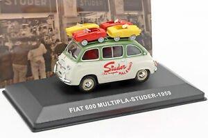 海外直輸入 Altaya 1:43 Fiat 600 Multipla van Studer year 1959 グリーン / クリームホワイト
