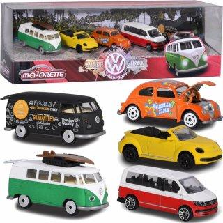 海外直輸入 Majorette 1/64 5-Car Set Volkswagen VW The Originals ギフトパック