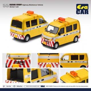 EraCar 1/64  55 Suzuki Every  スズキ エブリイ 道路パトロールカー