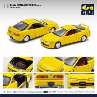 予約受付【10月】EraCar 1/64 11 Honda Interga Type R Dc2 - Yellow
