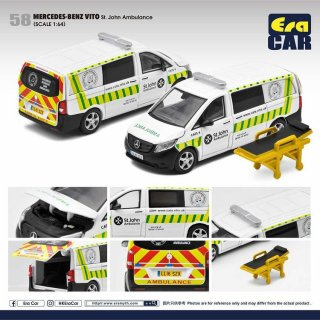 予約受付【10月】EraCar 1/64 58 Mercedes-Benz Vito St. John Ambulance