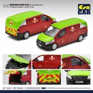 予約受付【10月】EraCar 1/64 58F   Mercedes-Benz Vito UK Post Office Car 1ST Special Edition(初回限定)