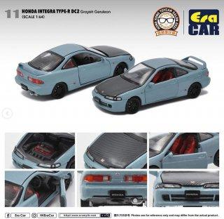 予約受付【11月】EraCar 1/64 香港トイズカーサロン2021会場限定  ホンダインテグラDC2タイプR Grayish Gerulain