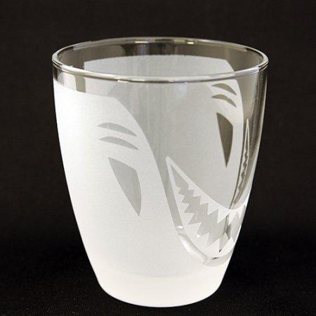 I♥SHARK サンドブラストグラス