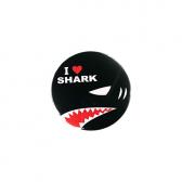 缶バッジ I LOVE SHARK(黒)2018
