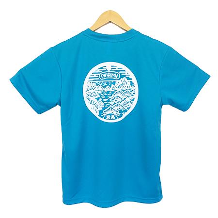 岩美マンホール入りドライTシャツ(ブルー)