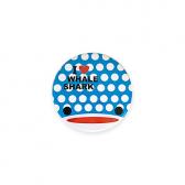 【ミニ】缶バッジ I LOVE WHALE SHARK(笑顔)2018