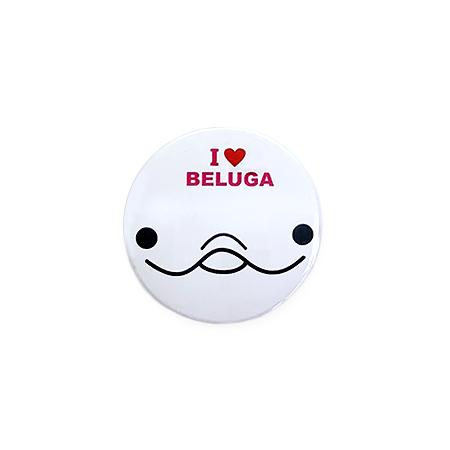 【ミニ】缶バッジ I LOVE BELUGA(白)