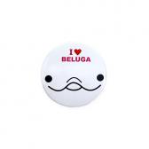 【ミニ】缶バッジ I LOVE BELUGA(白)2019