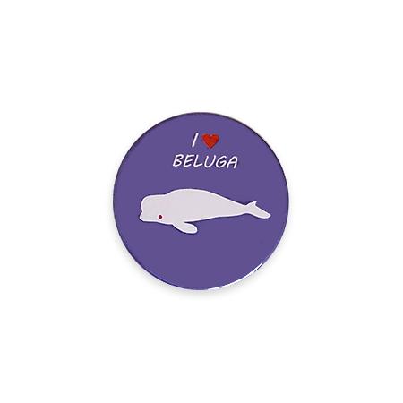 【ミニ】缶バッジ I LOVE BELUGA(紫)