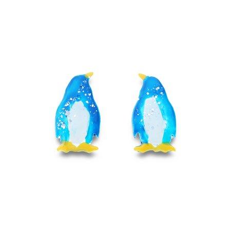 mikazuki hanameオリジナル 樹脂ピアス(ペンギン)