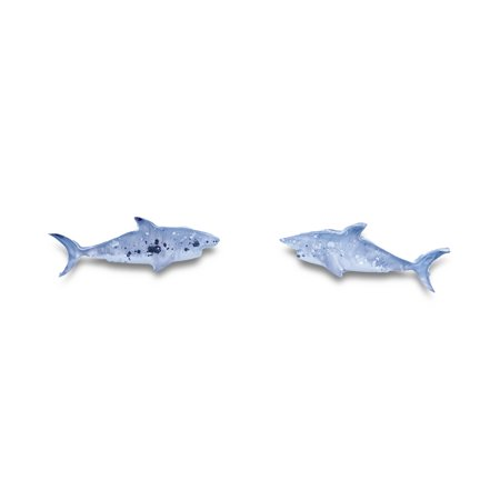 mikazuki hanameオリジナル 樹脂ピアス(サメ)