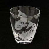 I♥WHALE SHARK サンドブラストグラス