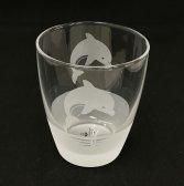 I♥DOLPHIN サンドブラストグラス