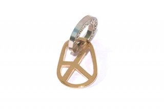 楕円ピースマークペンダント mini GOLD