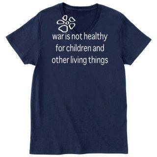 war is not healthy Vネックカットソー(ヘザーグレイ) ★期間限定受注製作品 〜6月30日(日)まで