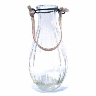アンティークガラスボトルの一輪挿しA/ベージュ
