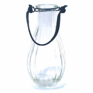 アンティークガラスボトルの一輪挿しC/ブラック