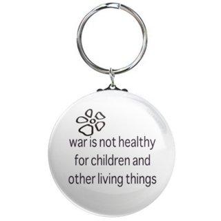 war is not healthy サインボードキーリング