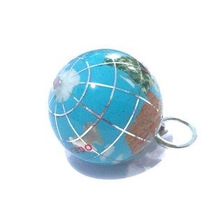 天然石の地球儀ペンダントB(ターコイズ)