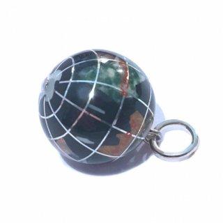 天然石の地球儀ペンダントB(オニキス)
