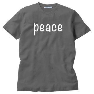 PEACE RネックMEDIUMカットソー(チャコールグレイS)