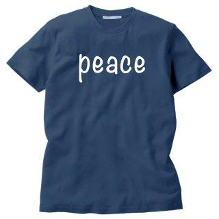 PEACE RネックMEDIUMカットソー(ミディアムネイビーS)