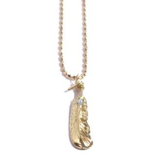 羽根のダイヤモンド18金ネックレス