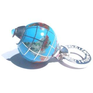 天然石の地球儀ペンダントA(ターコイズ)