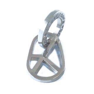 楕円ピースマークペンダント mini