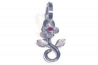 MireyHIROKI 一輪の花のペンダントヘッド(DIAMOND) ★受注製作品