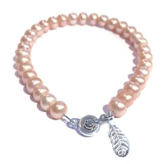 本真珠のブレス(オレンジピンク) ☆数量限定品