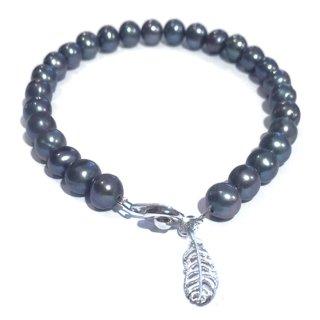 本真珠のブレス(ブラック) ☆数量限定品