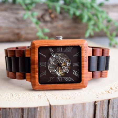 EINBAND Berg ブラウン&ブラック 自動巻き木製腕時計 【初回100本限定生産】