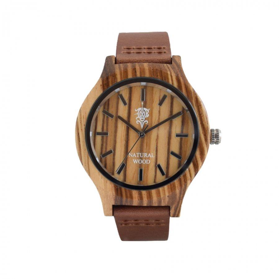 EINBAND Luft  Zebrawood レザー木製腕時計 36mm